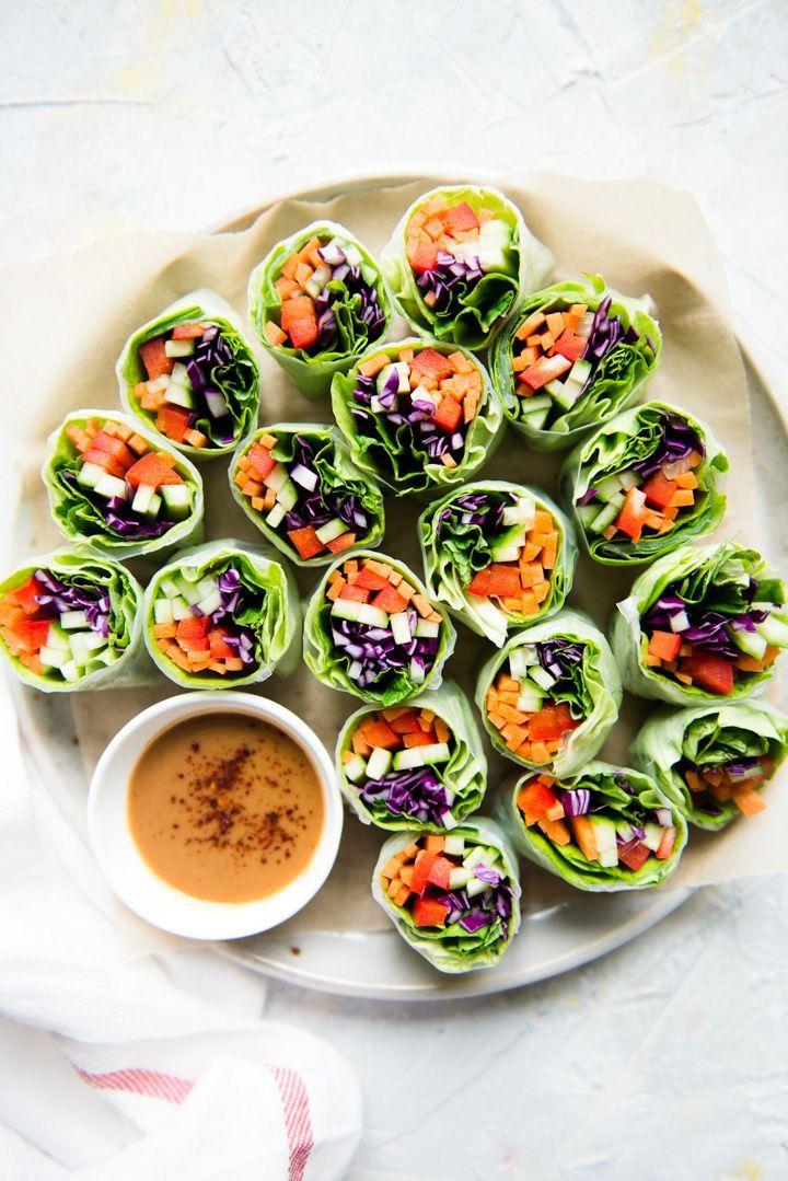 Fresh Vegan Vegetable Spring Rolls