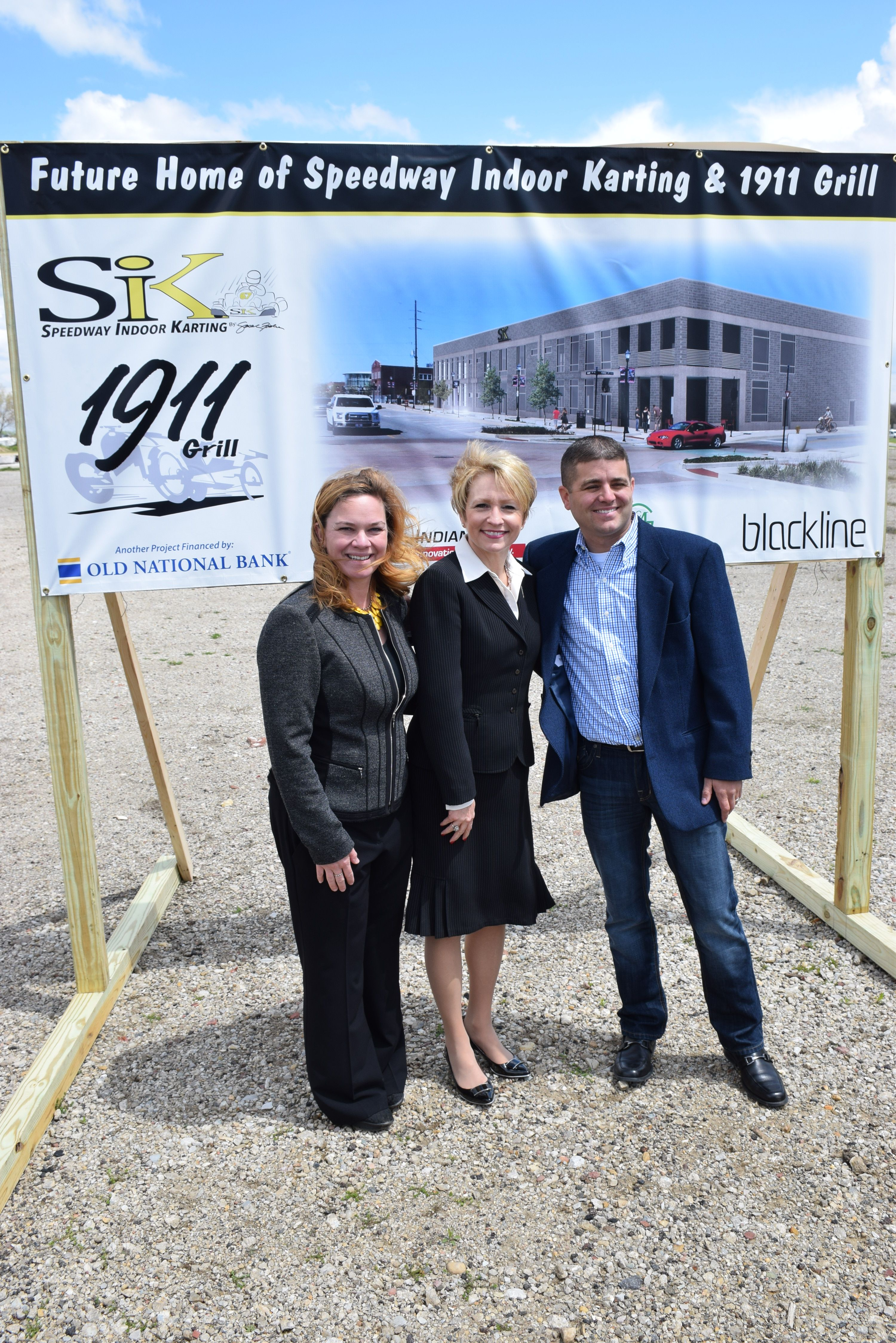 Speedway Karting Facility groundbreaking with Sarah Fisher ...