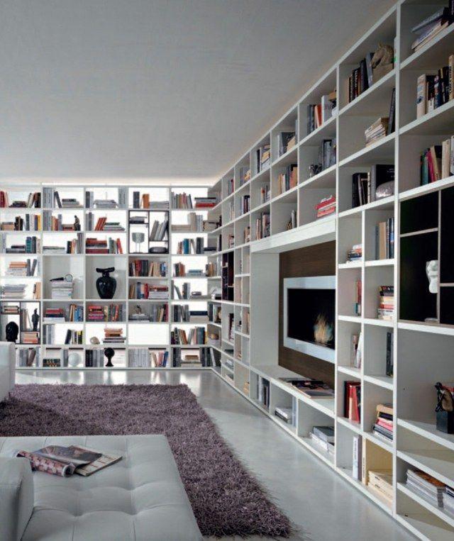Bibliotheque De Salon Design #12: 25 Idées De Meubles De Salon Design Par NORD-ISERE Décoration