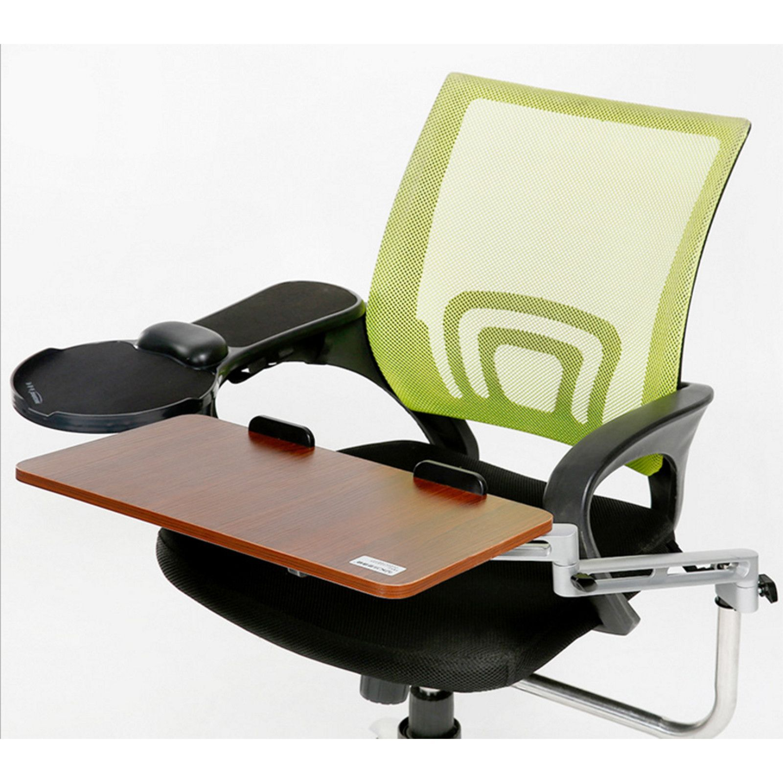 ergonomic chair mount laptop keyboard mouse tray system arm stand trays steel and woods. Black Bedroom Furniture Sets. Home Design Ideas