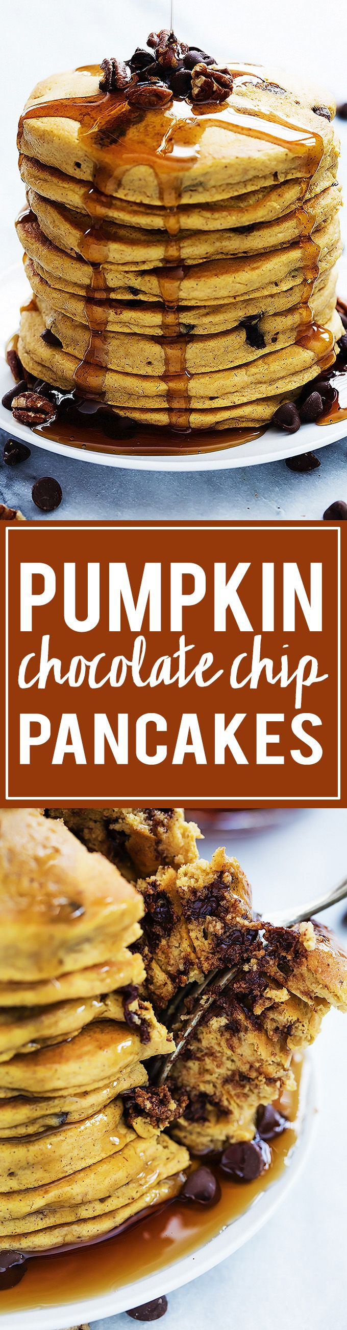 Pumpkin Chocolate Chip Pancakes!