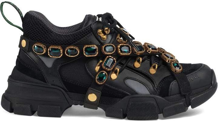 Gucci Men's Flashtrek leather sneaker