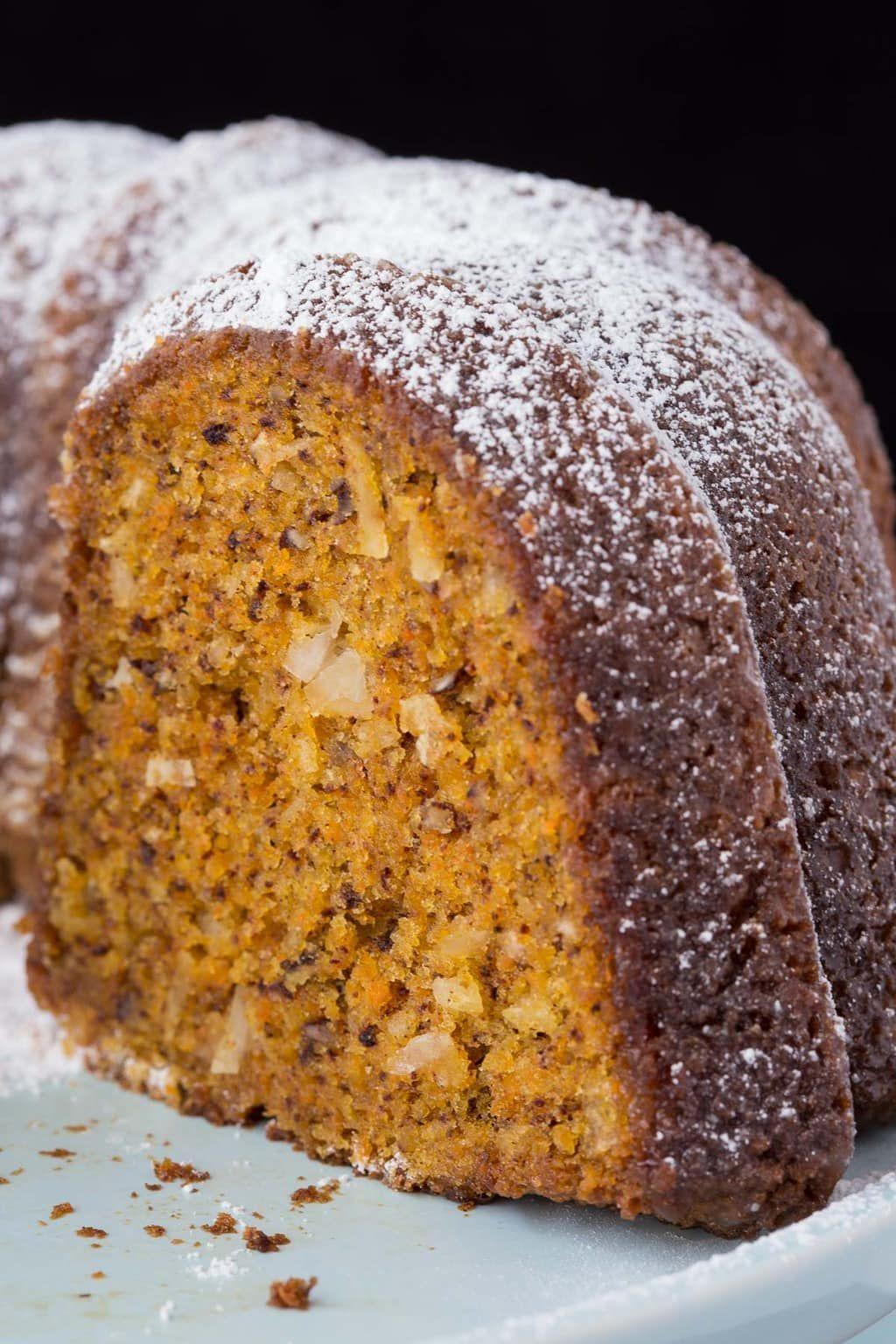 Easy Carrot Cake With Buttermilk Glaze Recipe Easy Carrot Cake Food Processor Recipes Carrot Cake