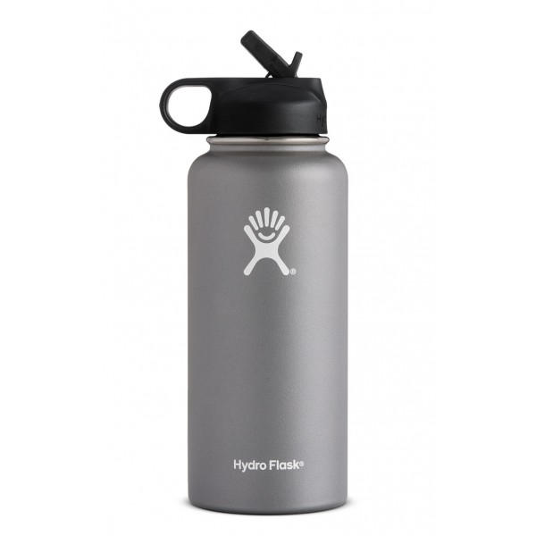 32 Oz Wide Mouth W Straw Lid Insulated Stainless Steel Water Bottle Wide Mouth Bottle Stainless Steel Collar