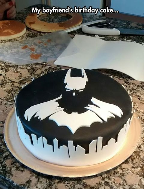 Awesome Batman Cake superheroes Pinterest Batman cakes Batman