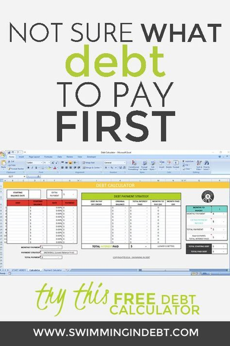 Paying Off The Debt - PART 5 Calculator - free debt reduction spreadsheet