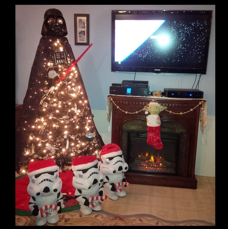 Our Star Wars Christmas... Darth Vader Tree 2015