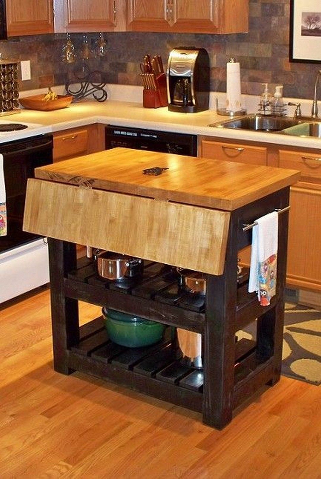 Brilliant Small Kitchen Island Diys Kitchen Design Small Small Kitchen Tables Mobile Kitchen Island