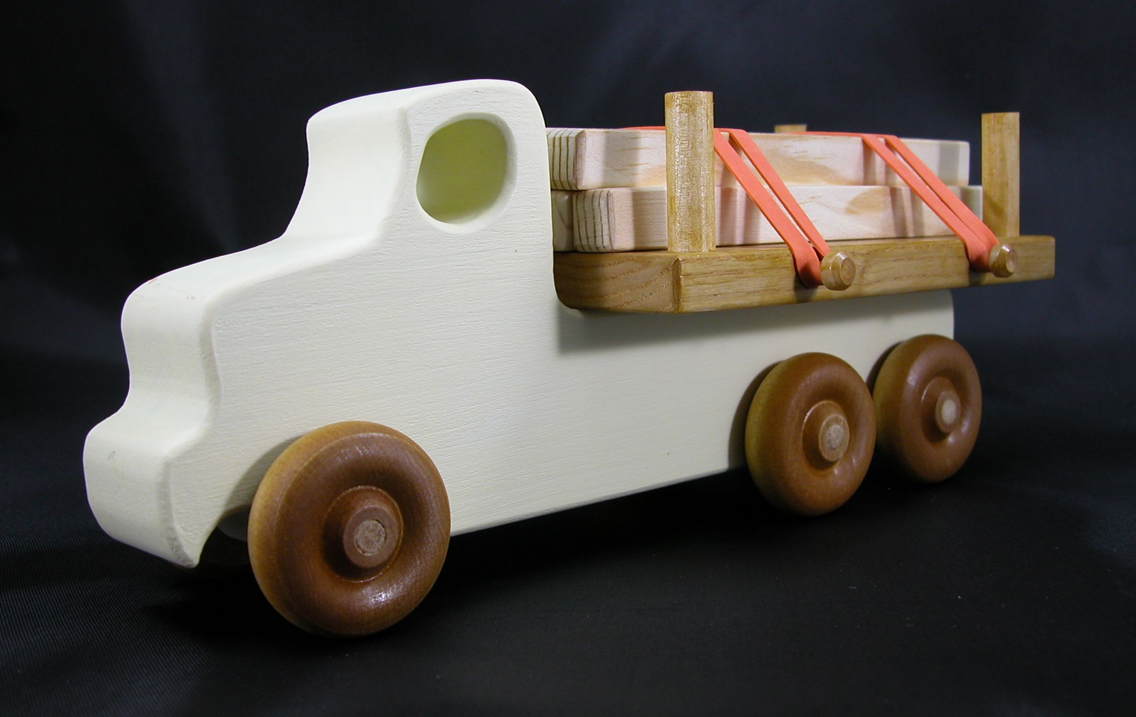 Car 3 toys  Handmade Wooden Toy Trucks Lumber Truck from The Quick N Easy