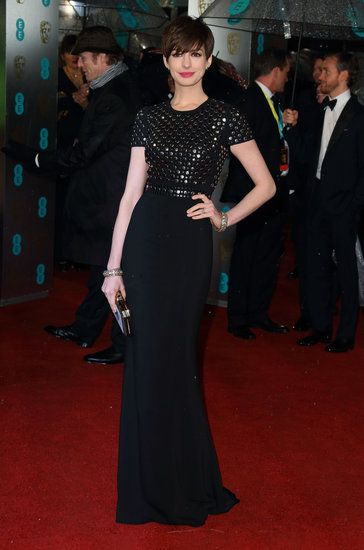 All The Ladies On The Rainy Baftas Red Carpet Nice Dresses Red Carpet Dresses Anne Hathaway Style