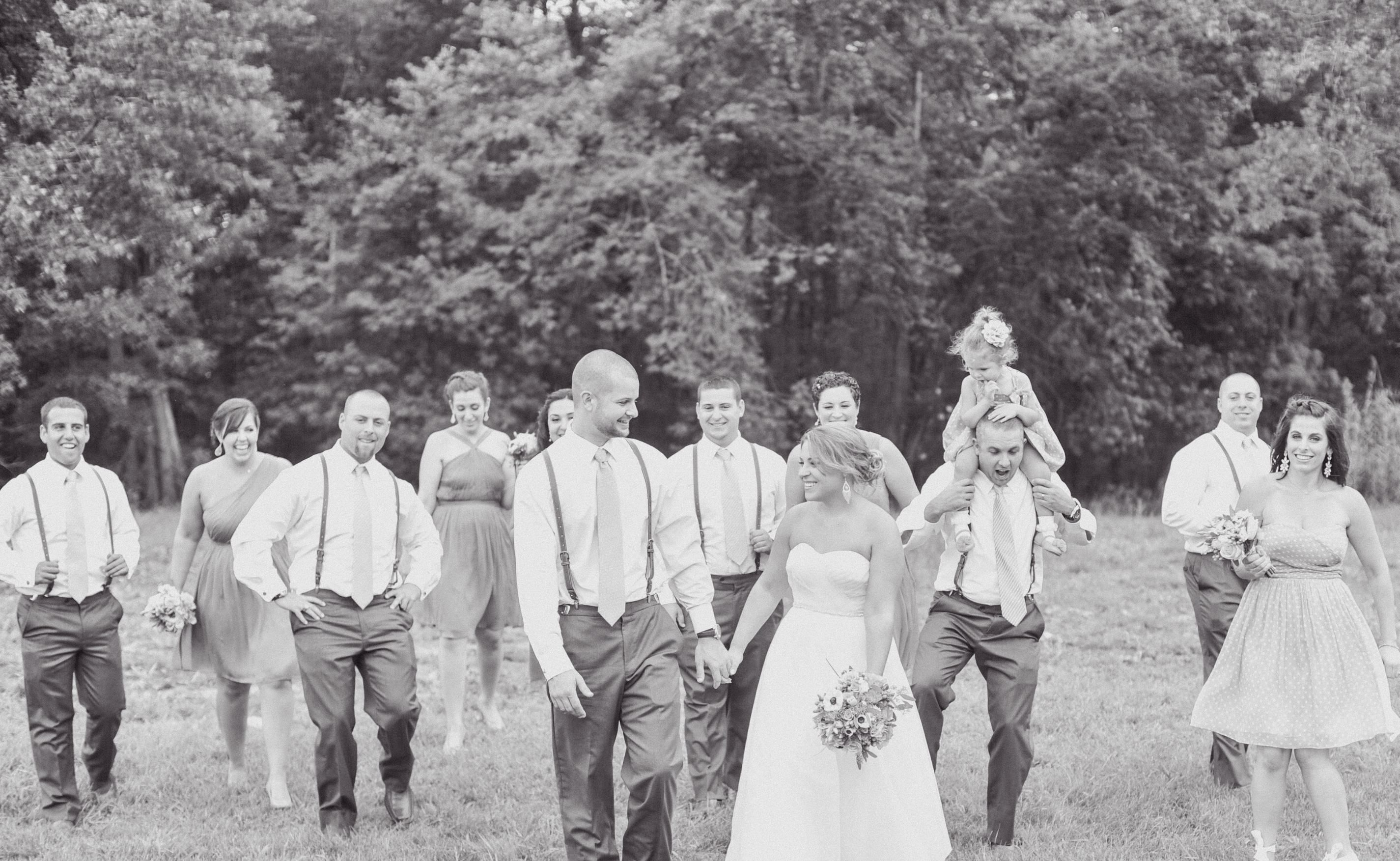 DIY rustic, whimsical barn wedding: Bridal Party- photo ...