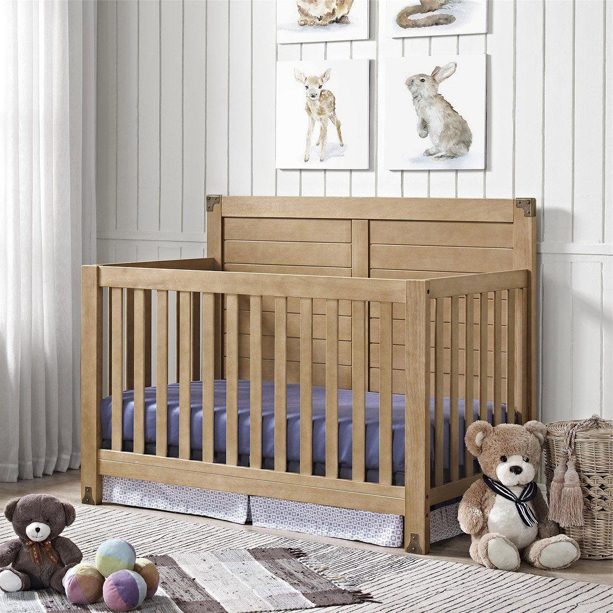 Baby Relax Ridgeline 4 in 1 Convertible Crib - Rustic ...