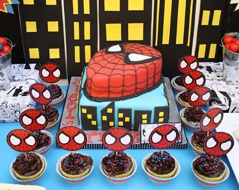 ideas para un cumpleaos de spiderman