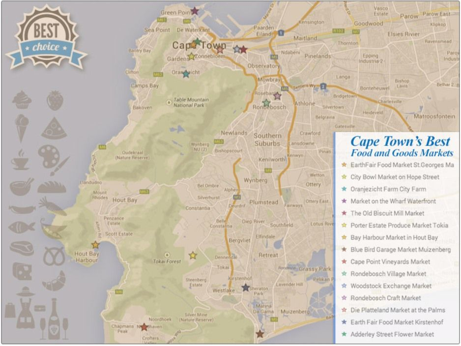 Awesome 12 Maps Tells Everything About Cape Town Kaapstad en
