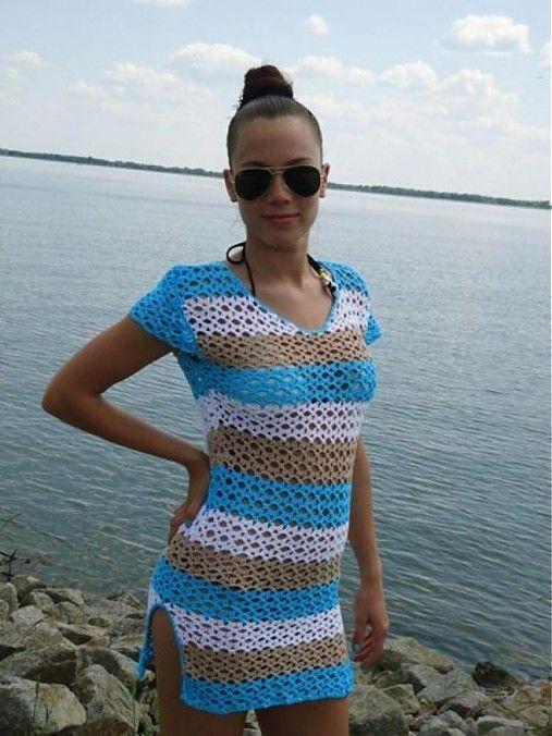 3dedfc7361dd ganipe   háčkované šaty Tina Šály