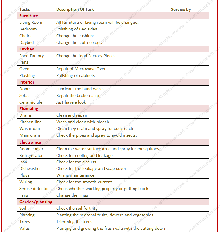 Task List Template Free  Planeris    Template Pdf And