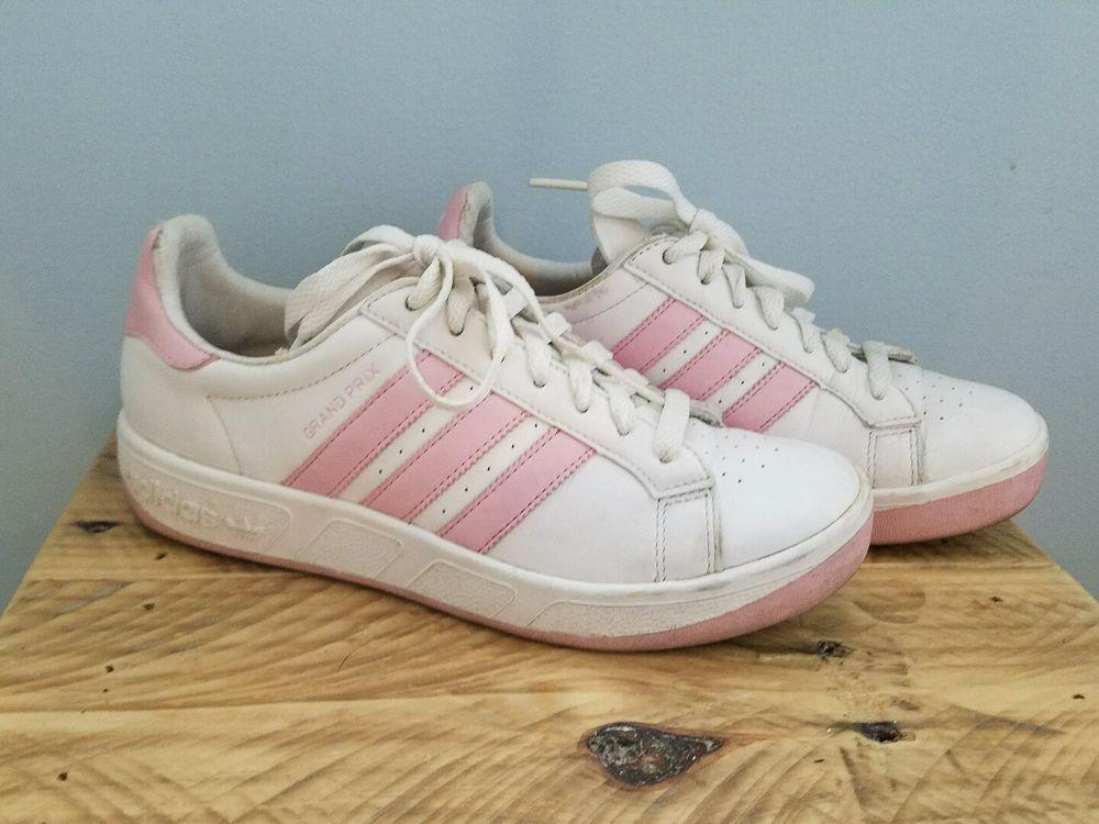 adidas grand prix femminile scarpe taglia righe bianche e rosa