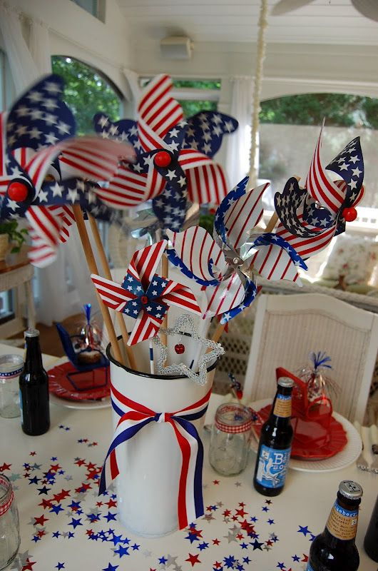 A Patriotic Celebration Table Setting 4th Of July 4th Of July