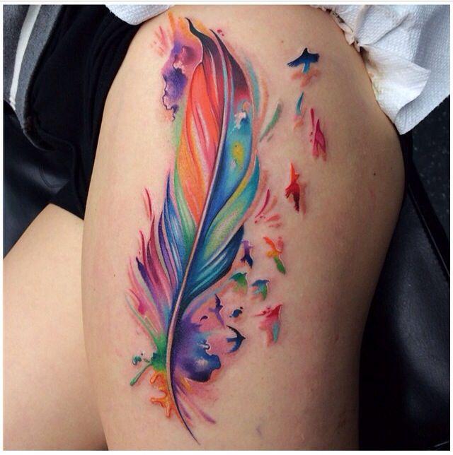 Tatuering, Fjädertatueringar