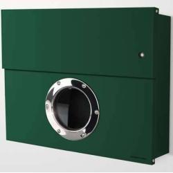 Photo of Radius Design Letterman Xxl Briefkasten dunkelgrün (ral 6005) mit Klingel in grün ohne Pfosten Radiu