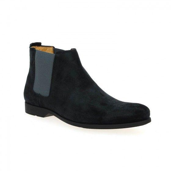 Boots chelsea homme bleu CHRISTIAN PELLET KALVIN - Bessec-chaussures.com