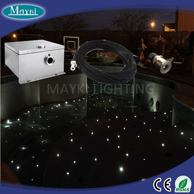 Top Quality Multi Color Led Swimming Pool Light For Star Lighting Decoraton With Source Fibre Cable Mayki Factory