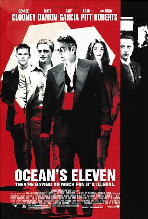 Ocean S Eleven 2001 Alternative 3 Artist Credit James Verdesoto And Vivek Mathur Iconic Movie Posters Movie Posters Oceans Eleven