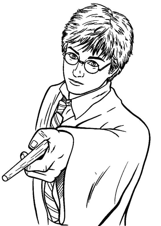 Harry Potter Learns Magic Power Coloring Pages   Harry ...