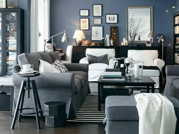 Wohnzimmer Design Ideen Ikea Grau Weiss Wohnzimmer In 2019