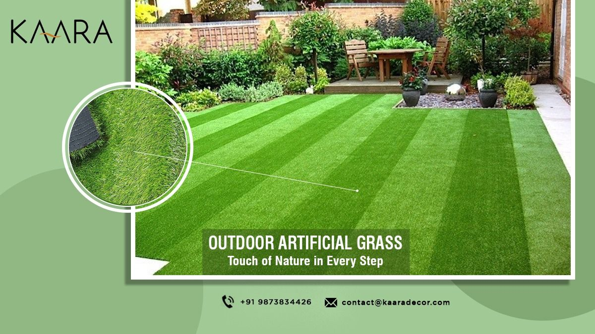 Make your Outdoor Living Space stand out! Install Artificial Grass in your outdoor living area. It helps enhance the look of your lawn. Apart from that, the Artificial Grass also creates a fresh, positive vibe around your surroundings. For more info, call us now at +91-9873834426 OR mail your details at contact@kaaradecor.com #kaara #kaaradecor #outdoor #artificialgrass #outdoorartificialgrass #artificialturf #TurfGrass #Landscaping #homeimprovement