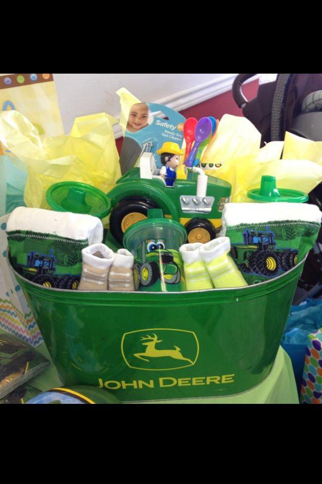 John Deere Gifts >> John Deere Gift Basket My Baby Shower In 2019 Baby Boy Gift