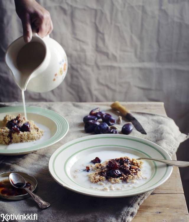 Chai-maustettu kvinoapuuro | Kotivinkki Text: Marita Suontausta Pic: Ulrika Ekblom #porridge #kvinoa #milk