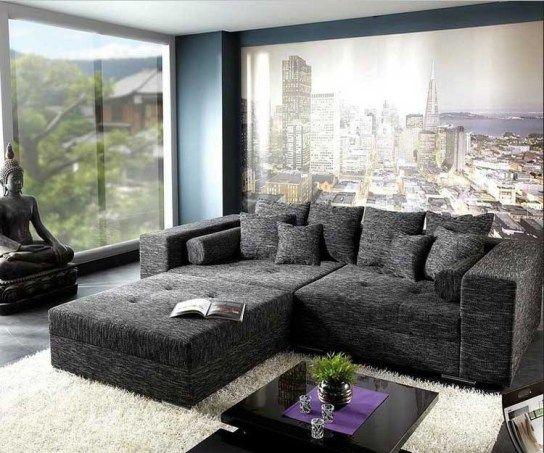 164 Black Living Room Ideas Furniture Pinterest Living room - teppich wohnzimmer grau