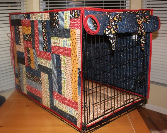 Large Quilted Dog Crate Cover-up; I don\'t sew but maybe my mom will ...