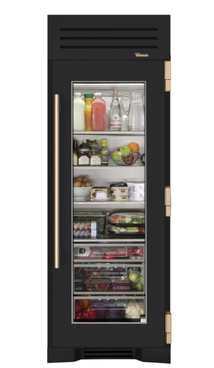 I Designed A Custom 30 Quot Glass Door Refrigerator Column On The True Residential Website Glass Door Refrigerator Kitchen Appliances Modern Refrigerators