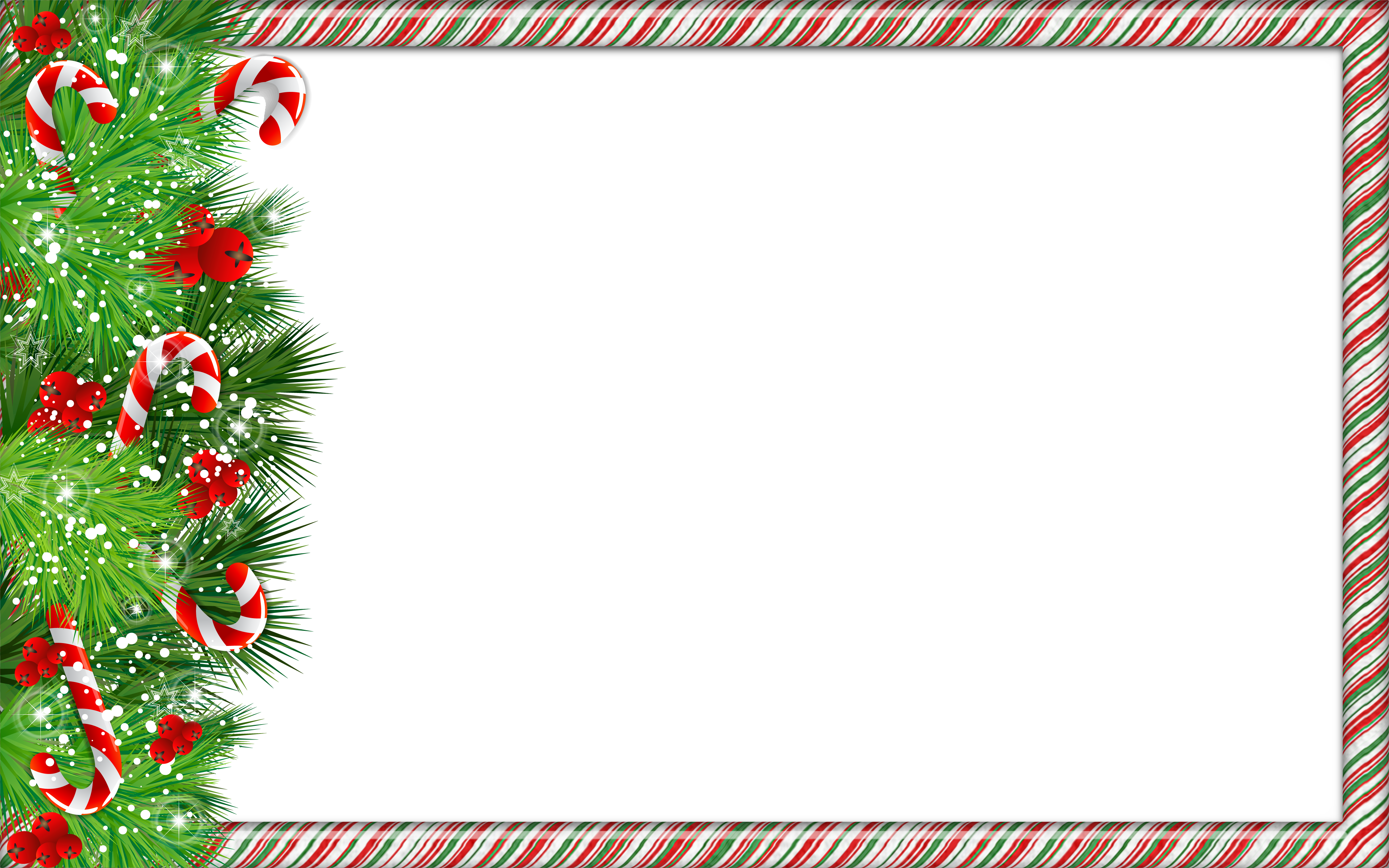 Christmas PNG Photo Frame with Candy Canes Gallery