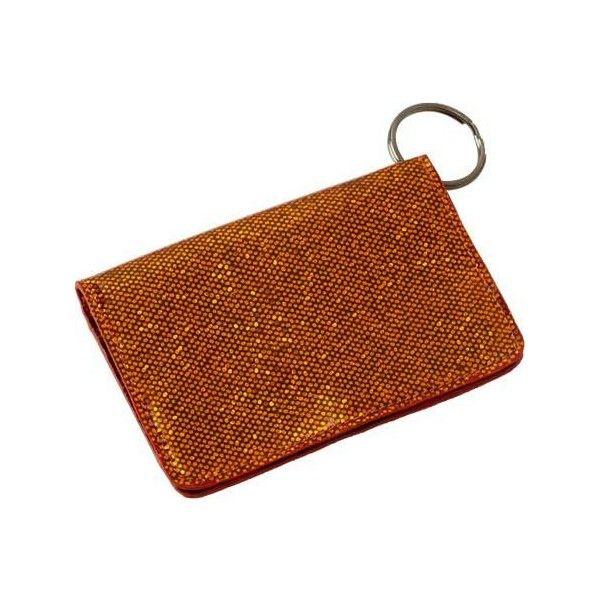 Women s Clava Jazz Glitter ID Keychain Wallet - Glitter Orange Wallets  ( 28) ❤ 0faa808540