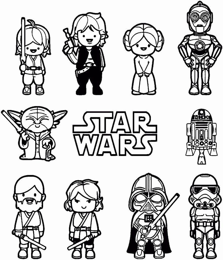 Printable Coloring Cartoon Characters Inspirational Star Wars Cartoon Characters Coloring Pa Star Wars Coloring Book Star Wars Cartoon Star Wars Coloring Sheet