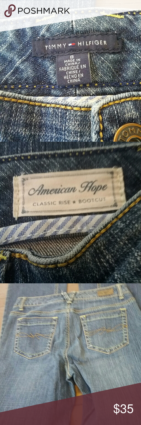 Tommy Hilfiger boot cut jeans Like new condition. Fits true to size Tommy Hilfiger Jeans Boot Cut