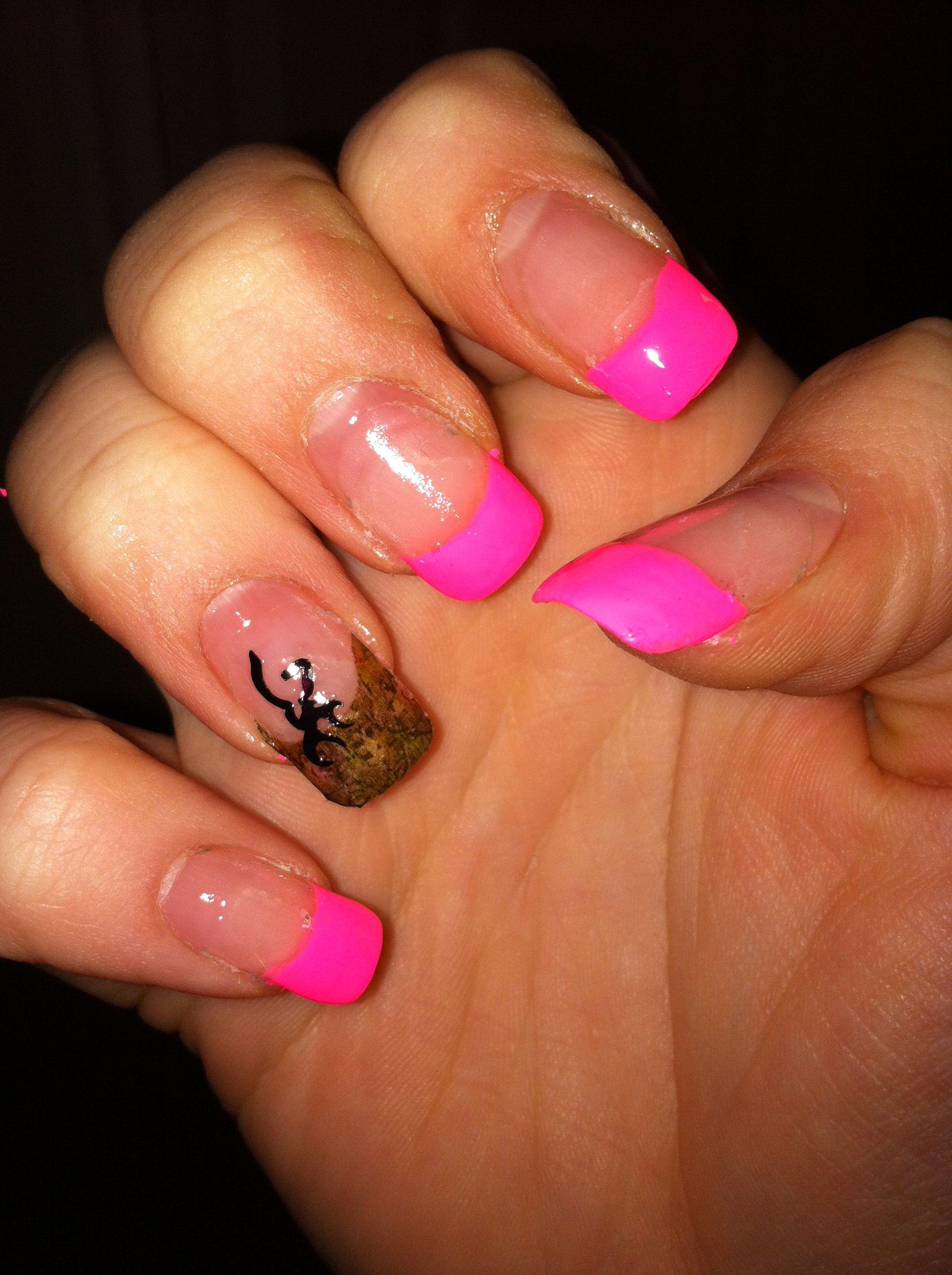 Mossy oak & buck mark nails <3 | Nails | Pinterest | Mossy oak ...