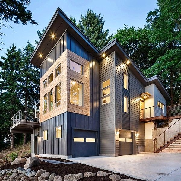 Allnatural And Modern Day Rustic Residential Architecture In