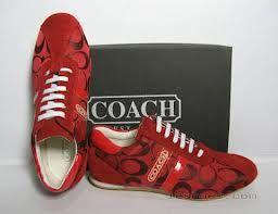 Red Coach enough said | Shoes, Coach