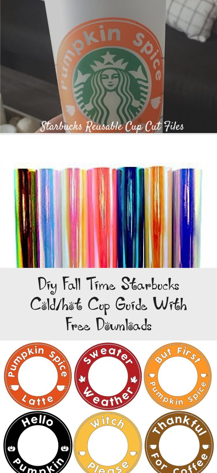 Diy Fall Time Starbucks Cold/hot Cup Guide With Free