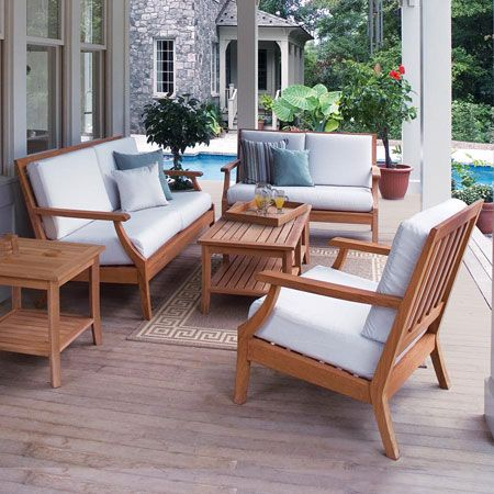 Teak Lounge Seating Seneca Collection By Country Casual