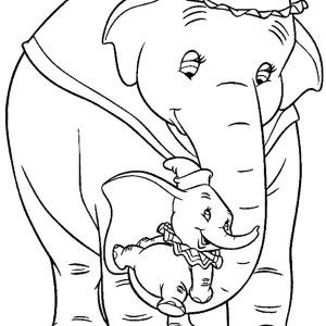 dumbo the elephant hide behind his mother coloring pages dumbo - Dumbo Elephant Coloring Pages