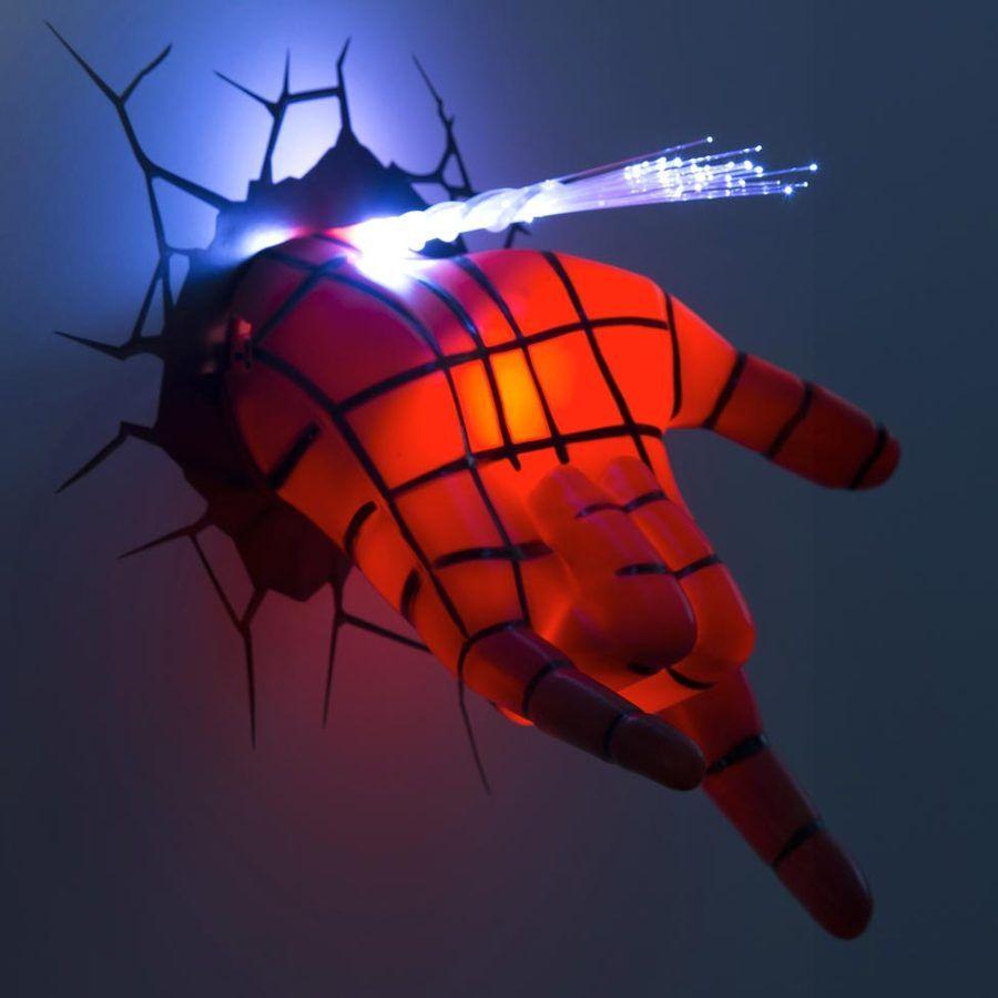 Lámpara 2019 en habitación spiderman infantil mano para Jl1cTKF