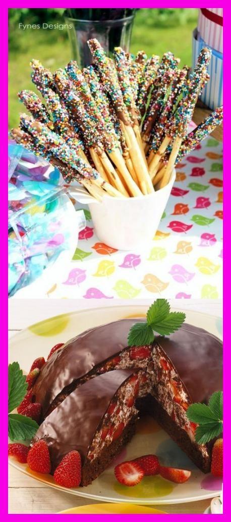 fingerfood ideen für kinderparty salzstangen schokolade zuckerstreusel  #FITNESS #ERNHRUNG #ABNEHMEN...