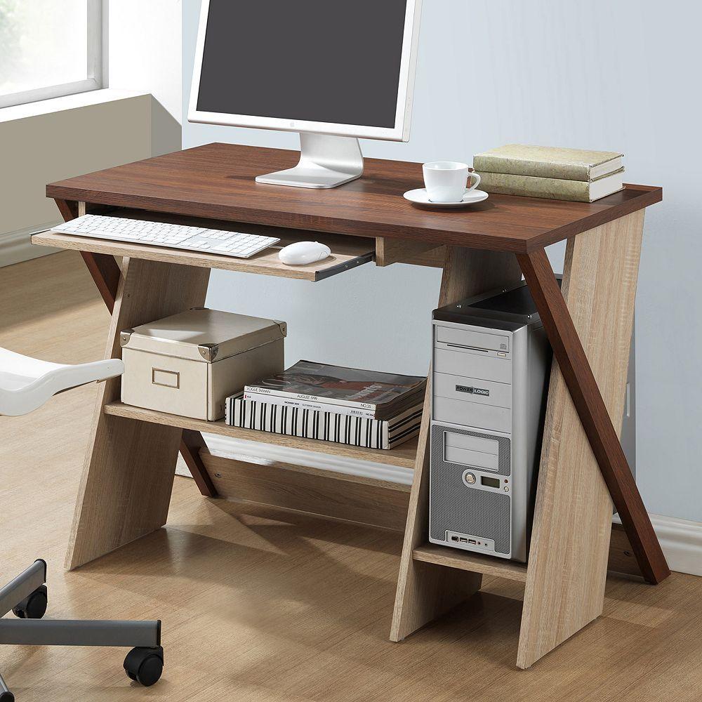 Baxton Studio Rhombus Writing Desk Writing Desk Wood Desk