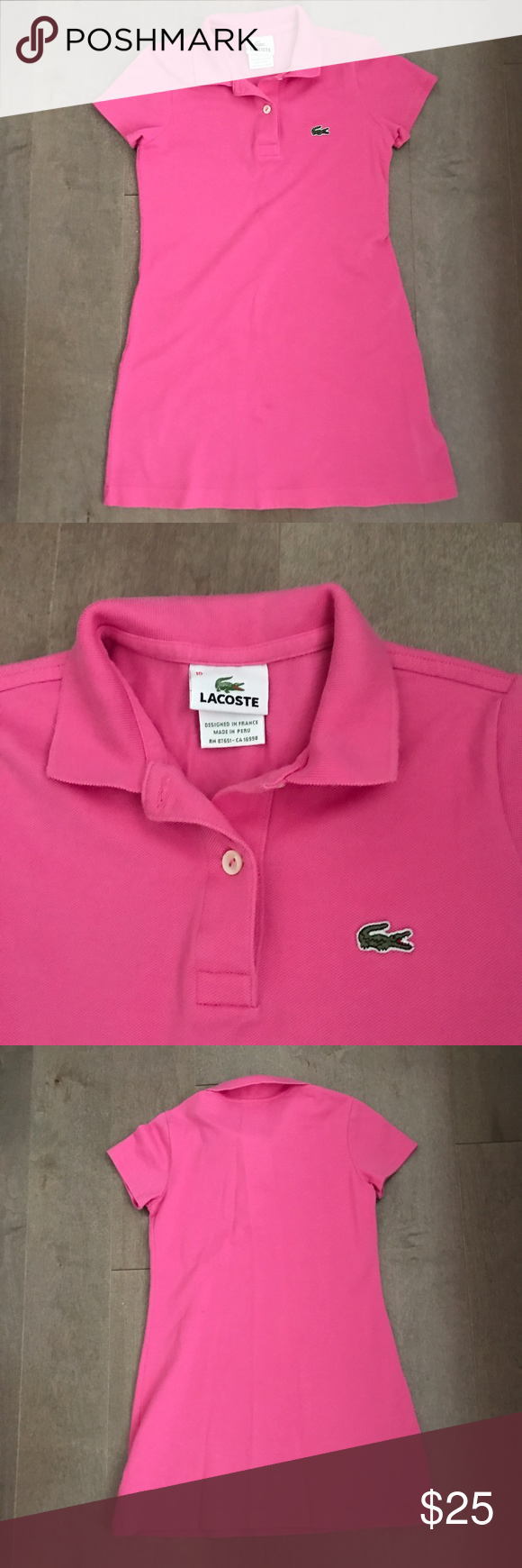 Lacoste girls polo dress lacoste polos and size