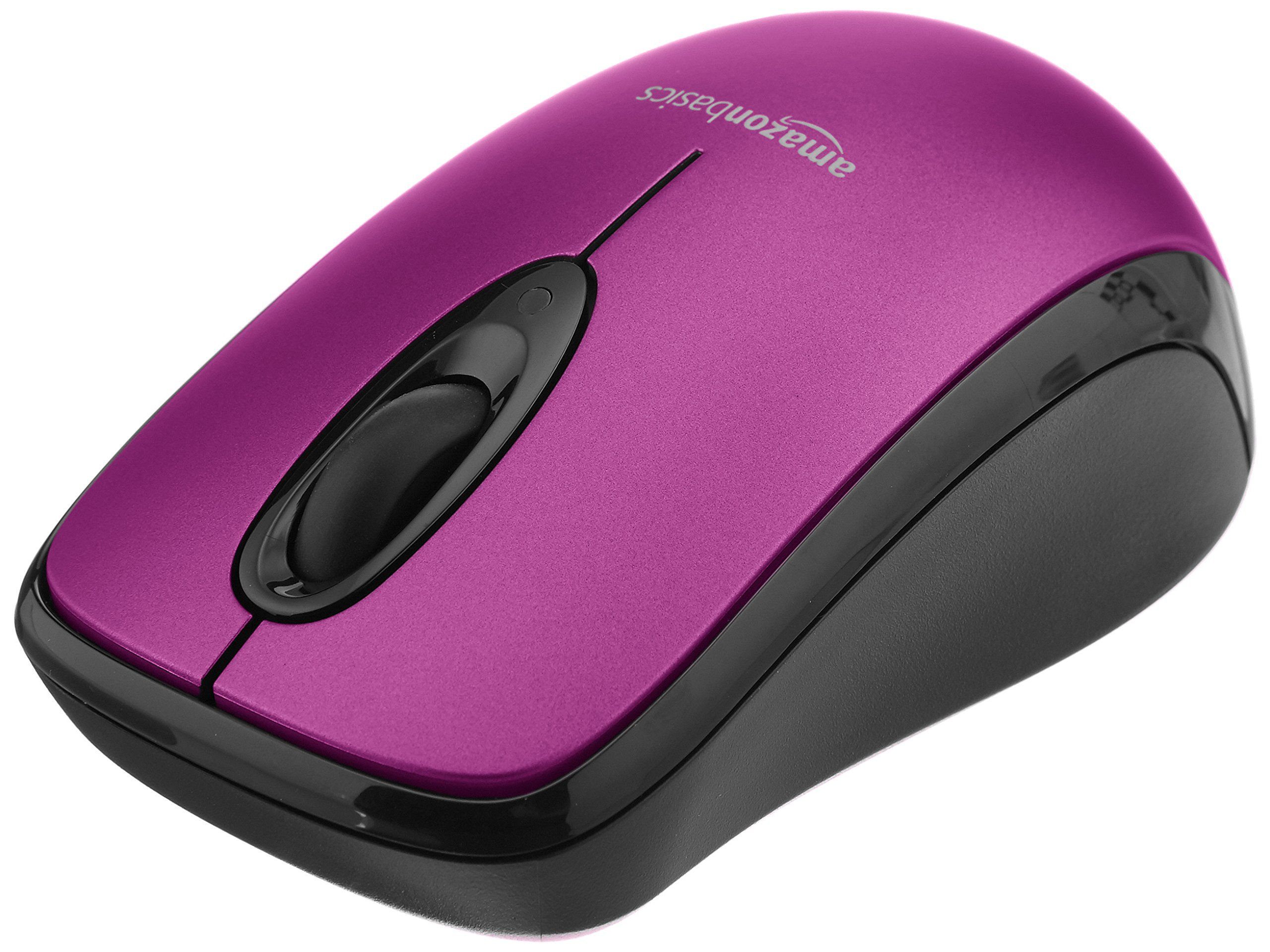 dab21537f55 AmazonBasics Wireless Mouse with Nano Receiver - Purple,#Mouse, #Wireless, # AmazonBasics, #Purple